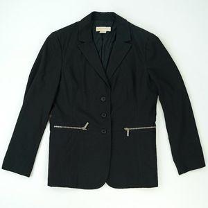 Michael Kors Stretch Jersey Blazer Jacket Zipper